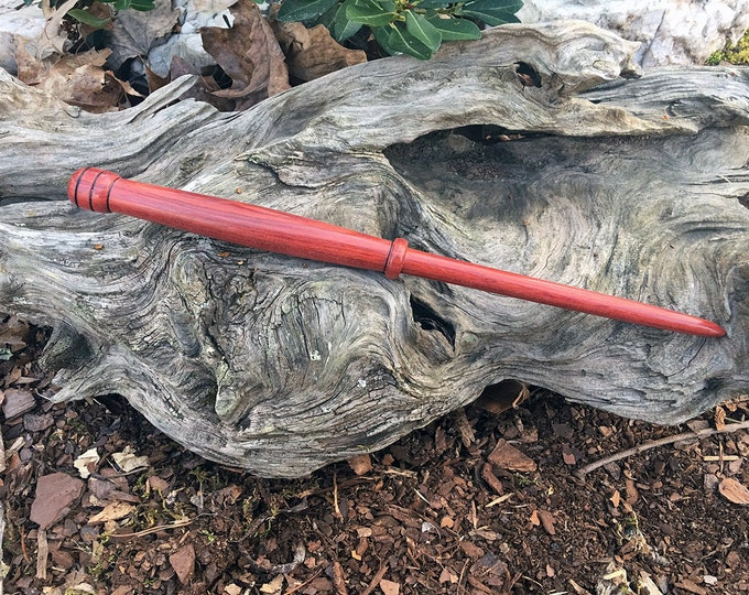 Featured listing image: Magic Wand, Exotic Red Heart Wood, Magick