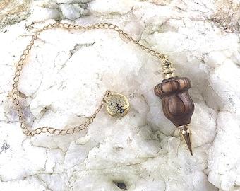 Dowsing Pendulum, Sinker Cypress with Tree Of Life Charm