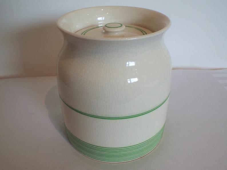Vintage Kleen Kitchen Ware Storage Jar 2 Pint. 1940s Vintage image 0