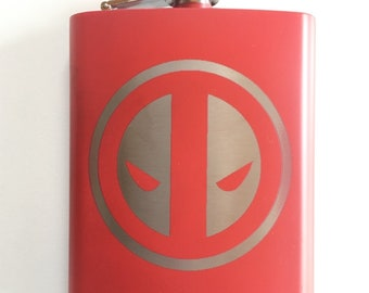 Deadpool Stainless Steel hip flask