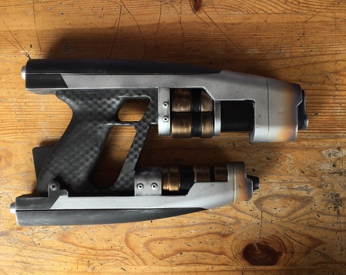 Featured listing image: Custom Painted Guardians of the Galaxy Star-Lord Quad Blaster prop.