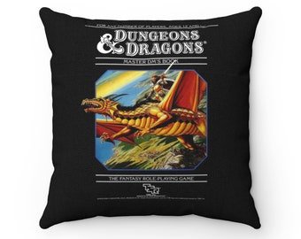 Classic Dungeons & Dragons Book Cover Pillow