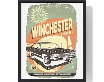 Supernatural Winchester Impala Premium Framed Vertical Poster