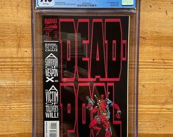 CGC graded 9.8 Vintage Deadpool #1, first appearance of Deadpool
