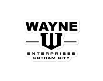 Batman Wayne Industries Bubble-free stickers