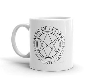 Supernatural Men of Letters Coffee Mug, SPN Fan art