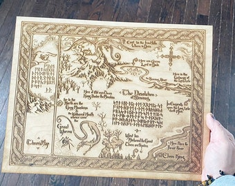 The Hobbit Thorin's Map Wall Art, woodwork and Wood burning