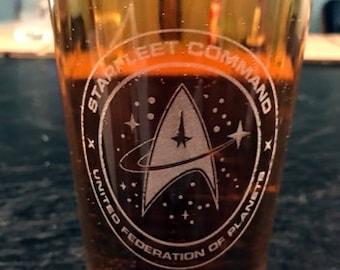 Starfleet Command United Federation of Planets, Beer Pub Pint Glass