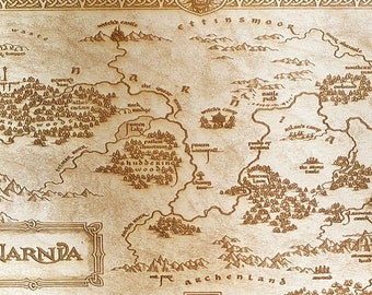 Chronicles of Narnia Map Wall Art, woodwork and Wood burning