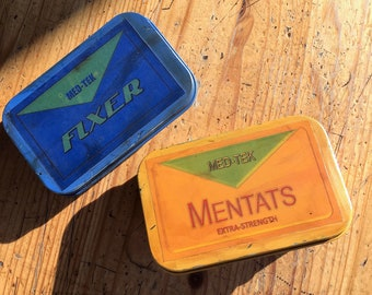 Fallout 4 Mentat and Fixer Candy Tins for cosplay or decor