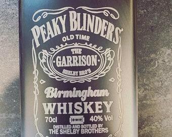 Peaky Blinders Black Stainless Steel hip flask