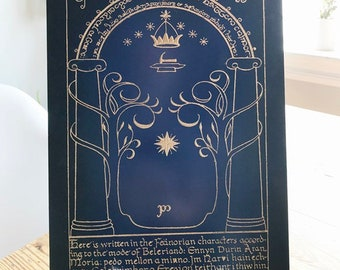 Lord of the Rings Door of Moria Office and Wall Art