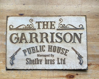 Peaky Blinders The Garrison Shelby Brothers Pub  Wall Art, woodwork