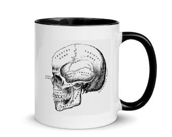 Skull Anatomy Mug with Color Inside