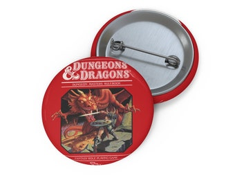 Classic Dungeons and Dragons Pin Buttons