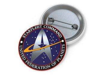 Starfleet Command Federation of Planets Star Trek Custom Pin Buttons