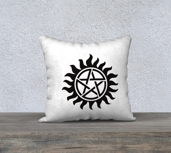 Supernatural Tv Show Protection Symbol Pillow Case 18 X
