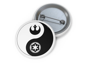 Star Wars Empire Rebels Dark Side and Light Side of the Force Zen Pin Buttons