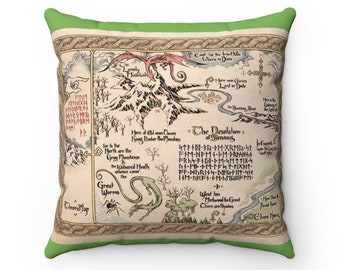 Thorin's Map The Hobbit Pillow, Middle Earth LOTR fan art