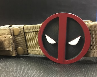 Deadpool tactical belt with Deadpool buckle, perfect cosplay accessory