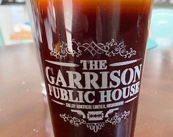 Peaky Blinders The Garrison Public House Beer Pub Pint Glass