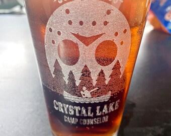 Camp Crystal Lake Friday 13th, Beer Pub Pint Glass