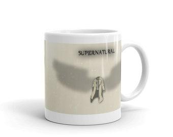 Supernatural TV Show Mug, featuring Castiel