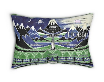 The Hobbit, LOTR Art Lumbar Pillow