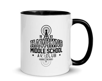 Stranger Things Hawkins Radio Club Mug with Color Inside