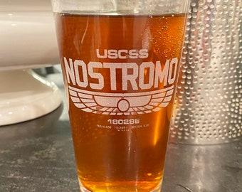 Aliens Nostromo Spaceship, Beer Pub Pint Glass