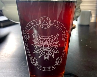 Witcher Beer Pub Pint Glass