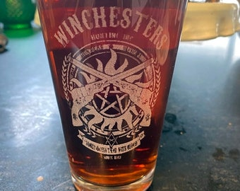 Supernatural Winchesters Beer Pub Pint Glass