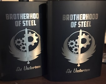 Fallout 4 Brotherhood of Steel Hip Flask, Stainless Steel