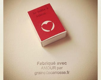 The BISOUS box in the collection of Mini Boxes to GOOD Of Carsse Seed