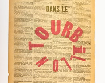 POSTER Typographic printing Together in the whirlwind of life (Paillettes)