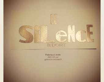 Typographical Printing Map SILENCE - Sleeps by Carriage Seed