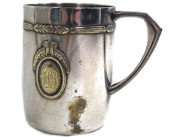 Antique WMF Silver Plated Baby Cup, Antique Christening Cup, Antique Child's Cup, Nursery Decor, Antique Christening Present, Baby Gift