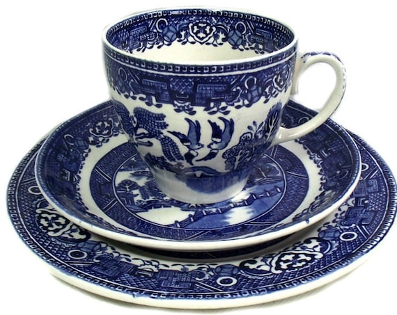English Willow Pattern Trio