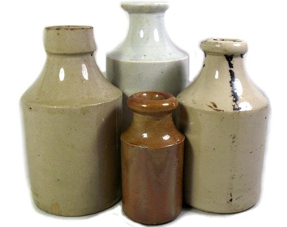 Antique English Stoneware Bottle Collection