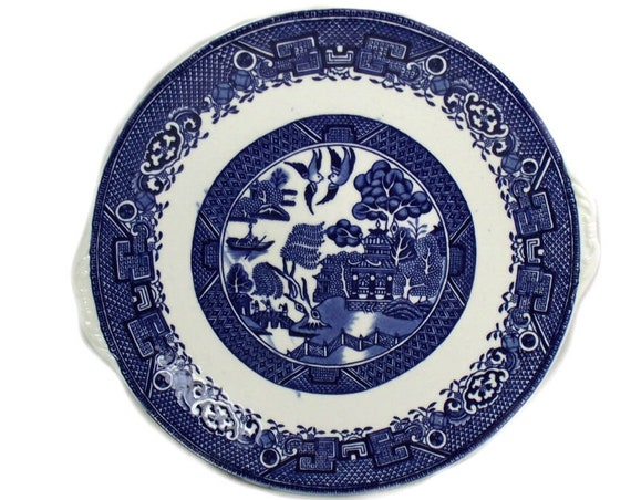 Washington Old Willow Pattern Cake Plate