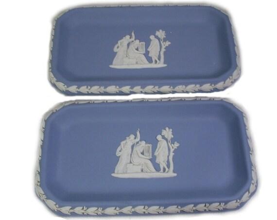 Pair of Vintage Wedgwood Jasperware Pin Dishes