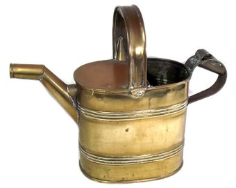 Antique Brass Watering Can, Brass Can, Victorian Brass Hot Water Carrier, 4 Pint Watering Can, Vintage Gardening, Brass Gift