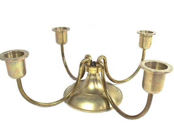 Vintage Brass 4 Arm Candelabra