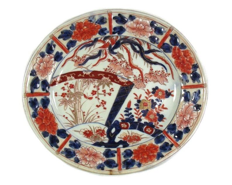 Seltene antike Chinesische Imari Porzellan Dish Platter Platter Charger 10.8 .