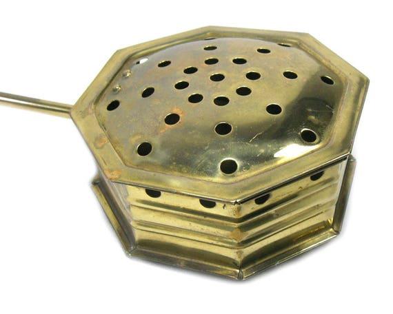 Vintage English Brass Bed Warmer