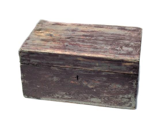 Rustic Vintage Wooden Storage Box