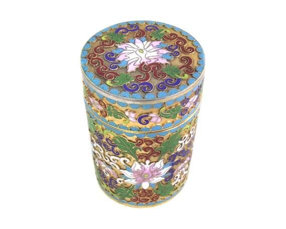 Vintage Chinese Cloisonne Lidded Box