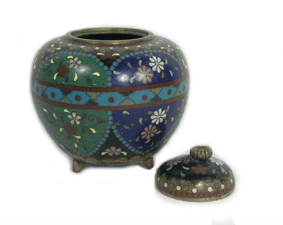 Antique Japanese Cloisonne Koro From The Meiji Period Etsy