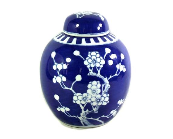 """Large 8.5"""" Prunus Ginger Jar"""
