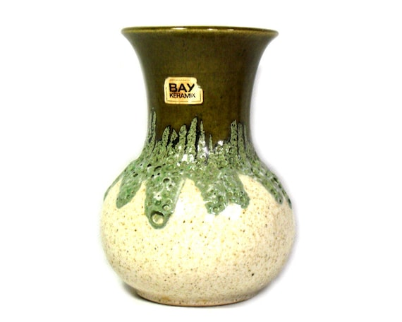 Vintage West German Vase by Bay Keramik, West German Pottery, West German Ceramic Vase, Bay Keramik Vase, Mid Century Modern, Fat Lava Vase